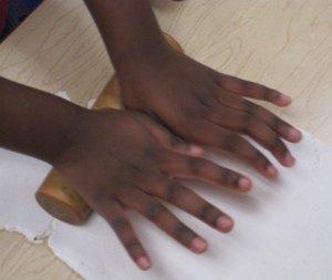 Playdough Hands